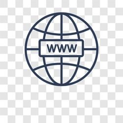 Domains icon. Trendy Domains logo concept on transparent background from web hosting collection