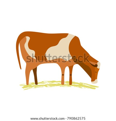 domestic animal icon. dairy...