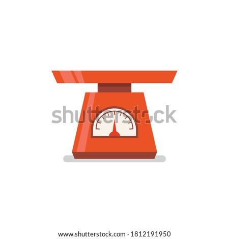 Domestic weigh scales flat icon. Vector illustration Foto d'archivio ©