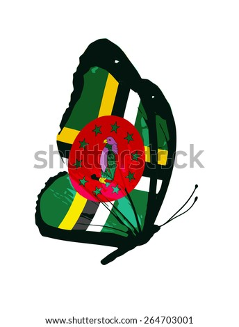dominica flag butterfly   vector