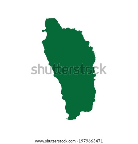Dominica map. Dominica map illustration. Dominica map flat chart. Dominica map silhouette Stockfoto ©