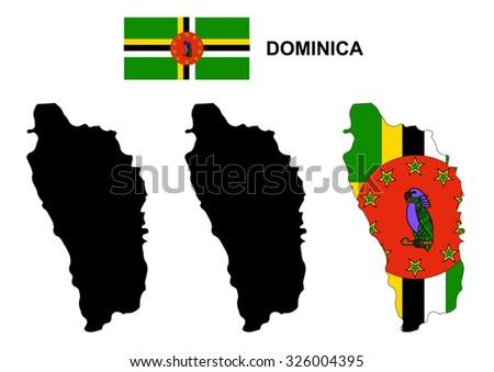 dominica map vector  dominica