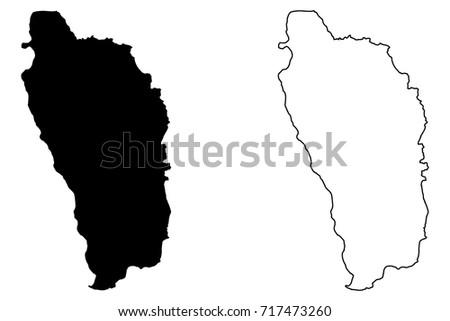dominica map vector