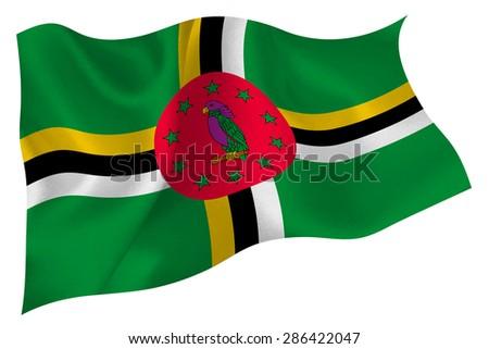 dominica national flag flag