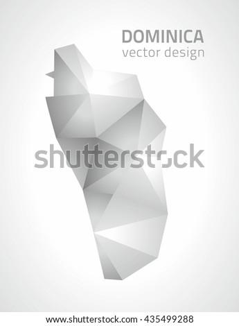 dominica polygonal vector grey