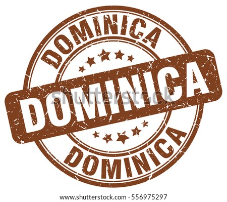 dominica stamp brown round