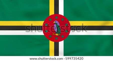 dominica waving flag dominica