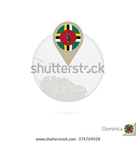 dominical map and flag in