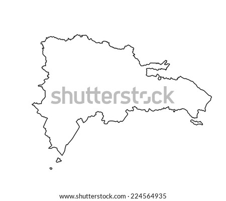 Free Vector Map Of Dominican Republic Free Vector Art At Vecteezy - Dominican republic map vector