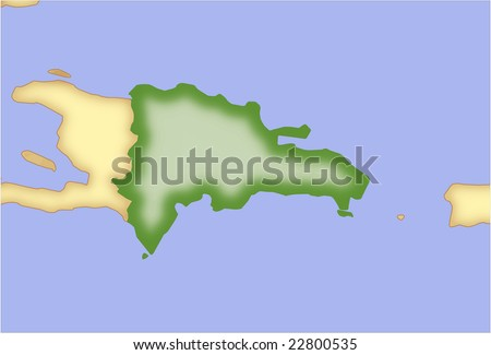 Dominican Republic, vector map,