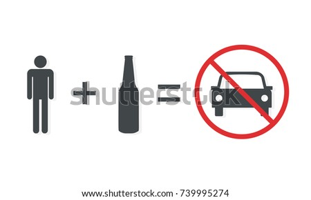 Don't drink and drive poster. Clipart image isolated on white background