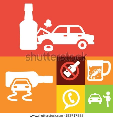 don't drink and drive symbols
