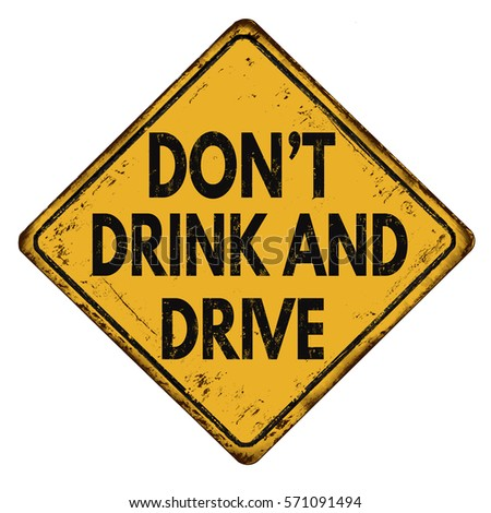 don't drink and drive vintage