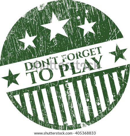 Don't forget to play rubber grunge texture stamp