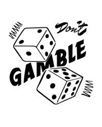 Don't Gamble - Retro Clipart Illustration