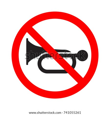 don't honk  no sound signal