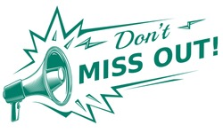 Don't miss out - sign with megaphone