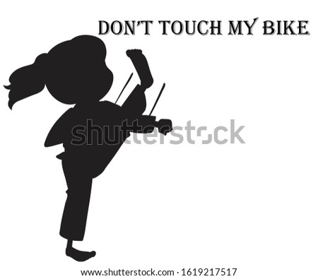 don't touch my bike warning sign