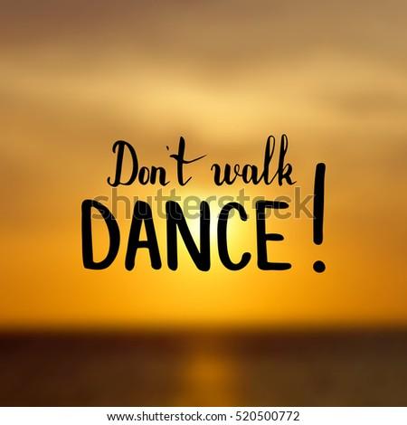don't walk dance illustration
