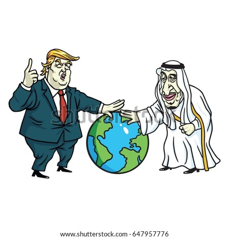 donald trump and king salman