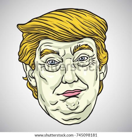 donald trump face vector