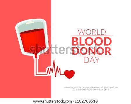 donate blood concept