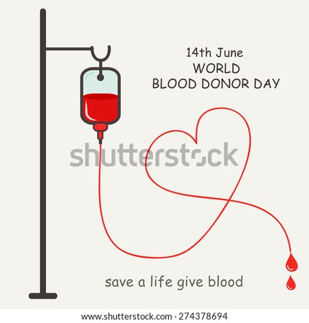 donate blood concept with blood