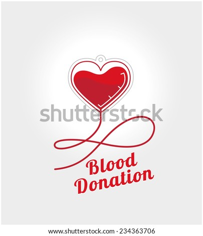 donate blood logo concept