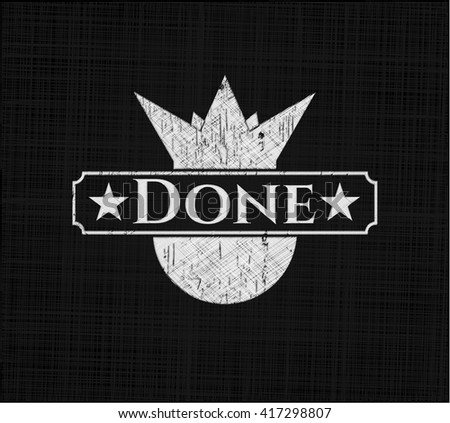 Done chalkboard emblem