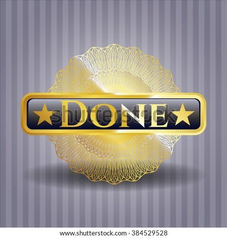 Done gold emblem