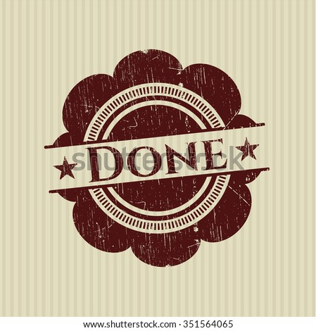 Done rubber stamp