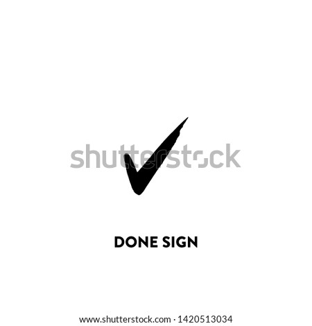 done sign icon vector. done sign sign on white background. done sign icon for web and app
