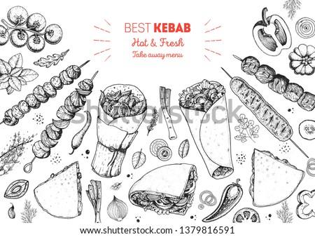 Arabic Cuisine Vector - Download Free Vector Art, Stock Graphics