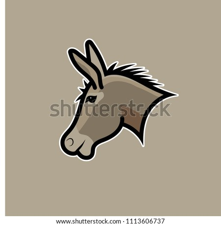 stock-vector-donkey-illustration-vector-ideal-for-logo-s-stickers-flyers-promotions-t-shirts-web