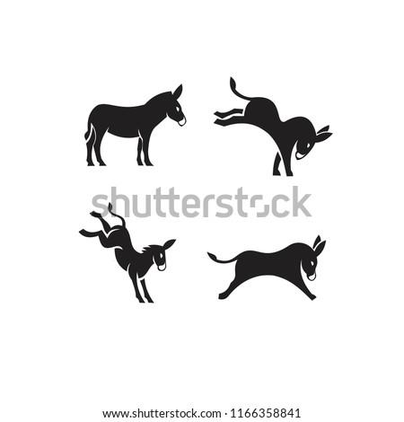 donkey logo icon designs
