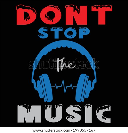 dont stop the music design