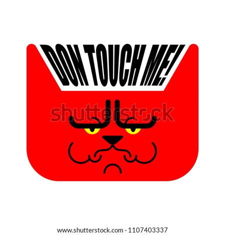 dont touch me grumpy cat
