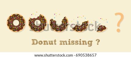Donut illustration vector, Donut in concept