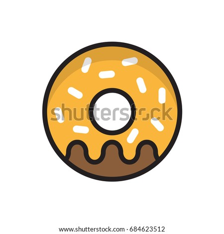 donut vector isolated food icon