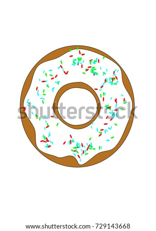 donut with colored sugar beads