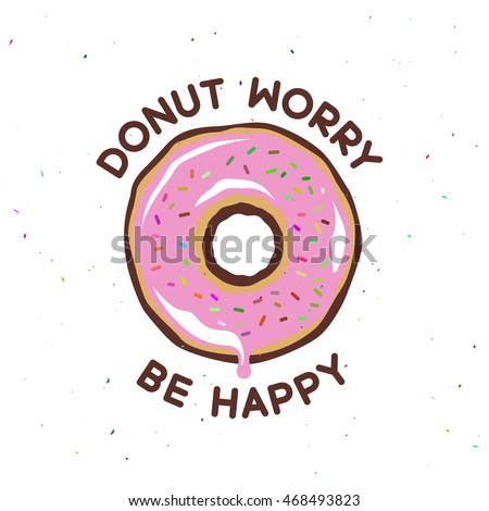donut worry be happy vintage
