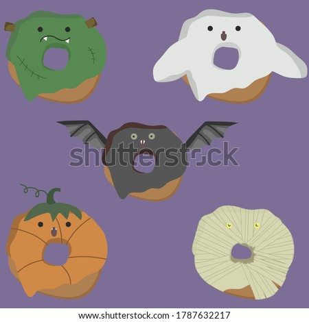 donuts monsters mummy bat