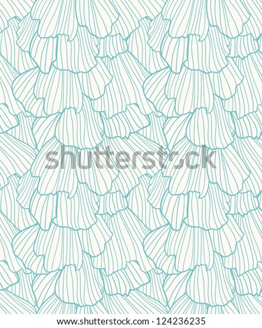 Doodle abstract frills seamless pattern.