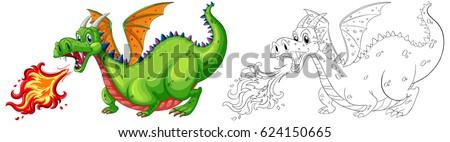 doodle animal for dragon