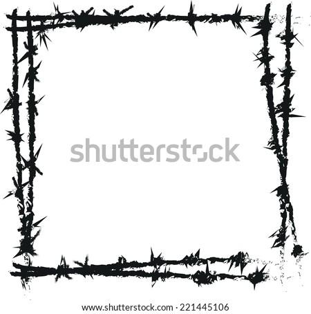 doodle barbed wire vector 221445106 shutterstock