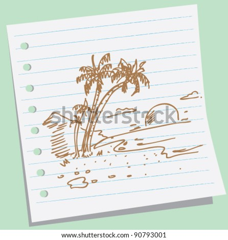 doodle beach illustration
