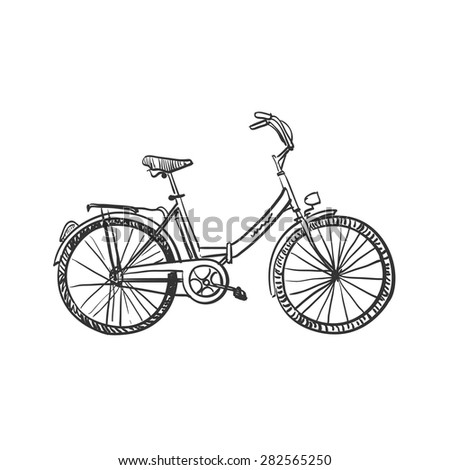 doodle bicycle  excellent