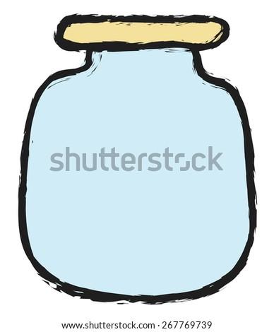 doodle blank glass jars, vector design elements