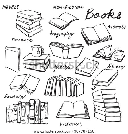 Doodle Book Collection Vector Illustration 307987160