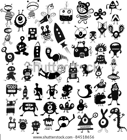 doodle characters set